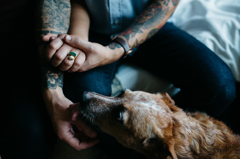 tattooed couple engagement photos