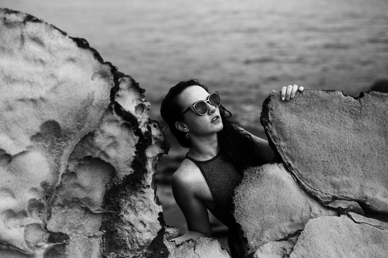 vintage boudoir pinup 1960s beach