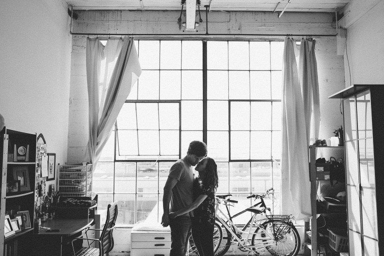 Oakland Artist Warehouse Home Engagement Session