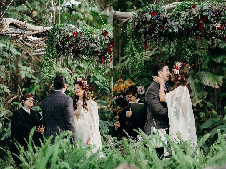 Tropical Bohemian wedding in Carmel, California