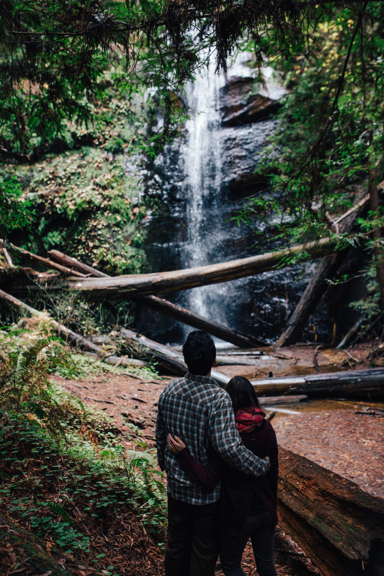 big basin waterfall engagement