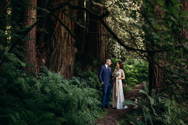 Woodsy Fern River Resort Wedding Venue Santa Cruz, California