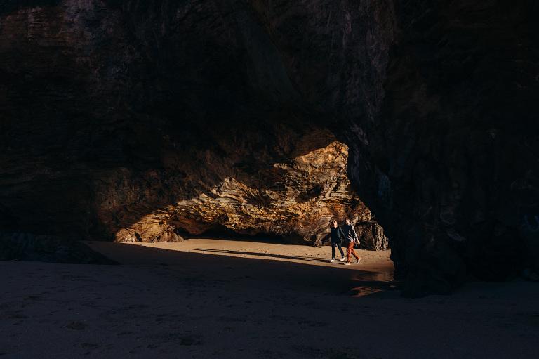 santa cruz beach engagement photography session