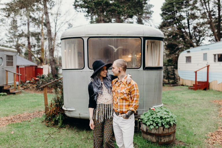 Sou'Wester Lodge Vintage Trailer Park Engagement