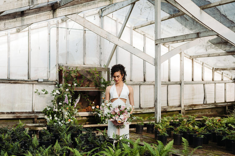 spring greenhouse wedding inspiration