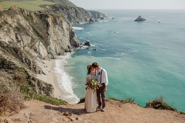 adventure elopement photographer big sur california